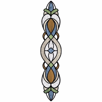 Picture of Blue Bristol Stained Glass Window Decals