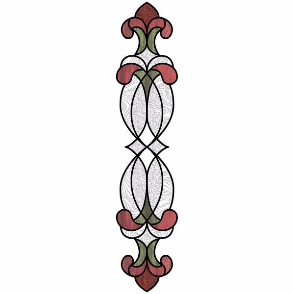 Picture of Red Hanover Stained Glass Window Decals