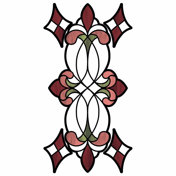 Picture of Red Vineyard Stained Glass Window Decals