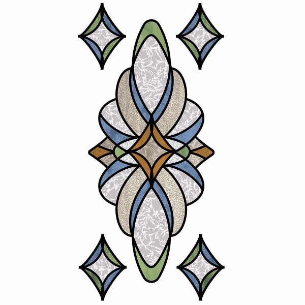 Picture of Blue Meridan Stained Glass Window Decals