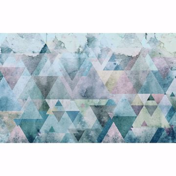 Picture of Blue Triangles Wall Mural