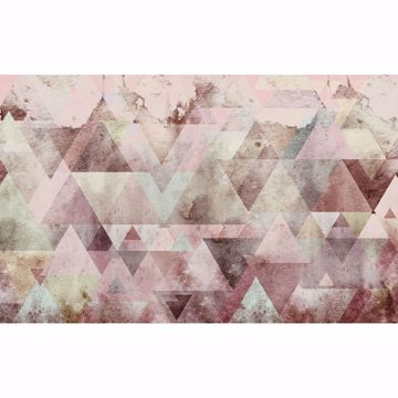 Picture of Pink Triangles Wall Mural