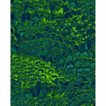 Picture of Green Feathers Wall Mural