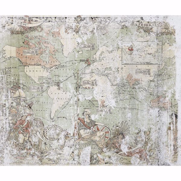 Picture of British Empire Map Wall Mural