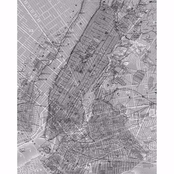 Picture of NYC Map Wall Mural