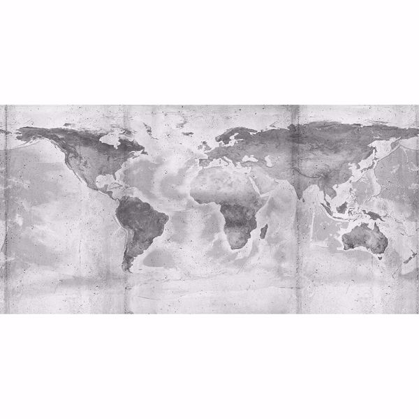 Picture of Concrete World Map Wall Mural