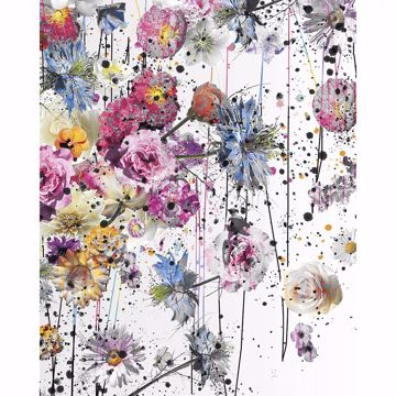Picture of Painted Flowers Wall Mural