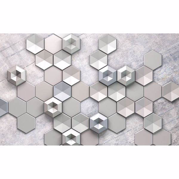Picture of Concrete Hexagon Wall Mural