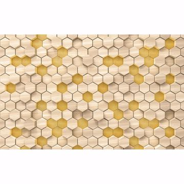 Picture of Woodcomb Yellow Wall Mural