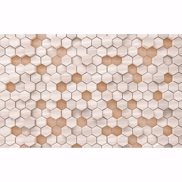 Picture of Woodcomb Neutral Wall Mural