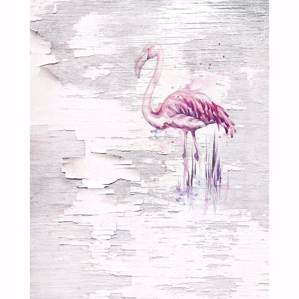 Picture of Pink Flamingo Wall Mural