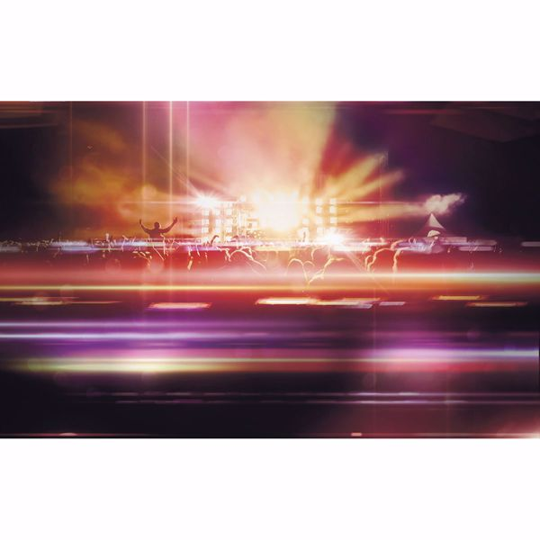Picture of Orange Neon Concert Wall Mural