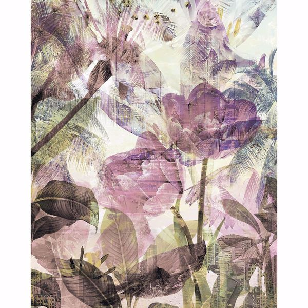 Picture of Purple Weathered Flowers Wall Mural
