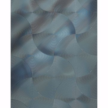 Picture of Silver Geometric Haze Wall Mural