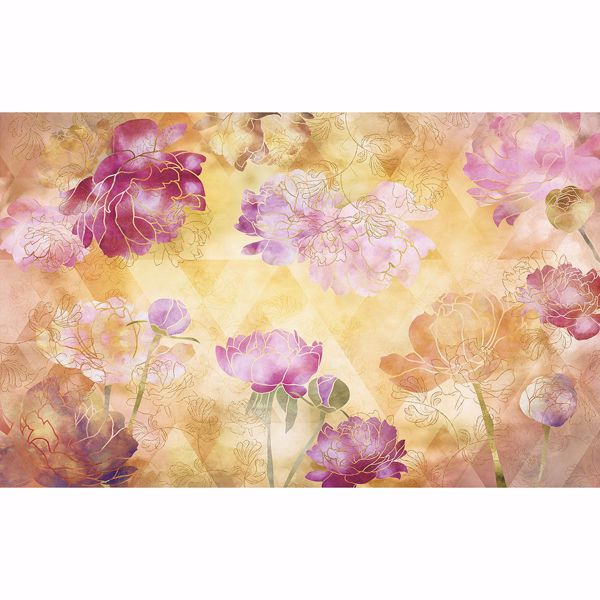 Picture of Chinoiserie Flowers Wall Mural
