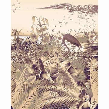 Picture of Beige Jungle Wall Mural