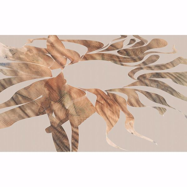Picture of Gold Swirls Wall Mural