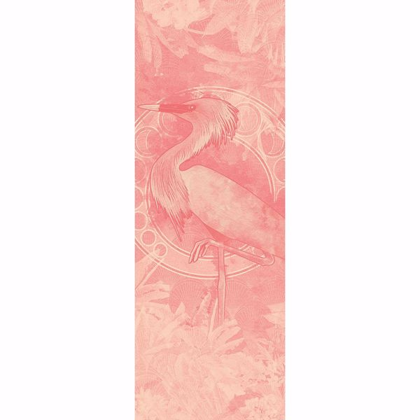 Picture of Pink Heron Wall Mural