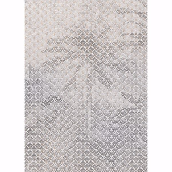 Picture of Grey Palm Trees Wall Mural
