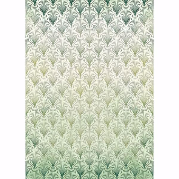 Picture of Lime Brocade Wall Mural