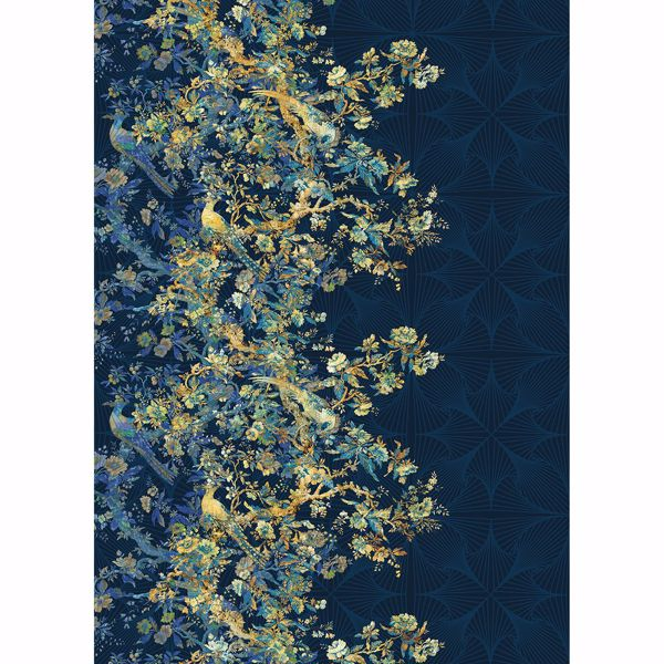 Picture of Navy Chinoserie Wall Mural