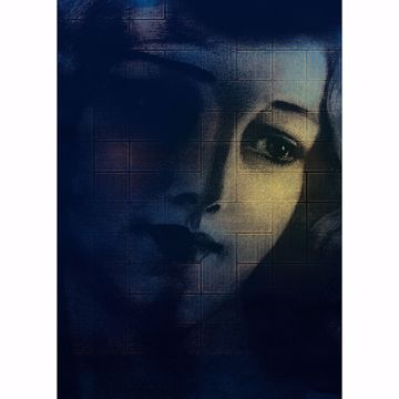 Picture of Illuminated Woman Wall Mural