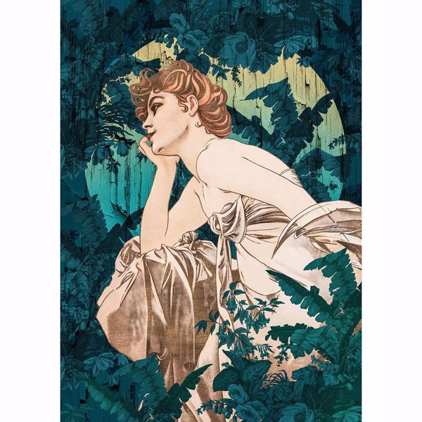 Picture of Green Statuesque Woman Wall Mural