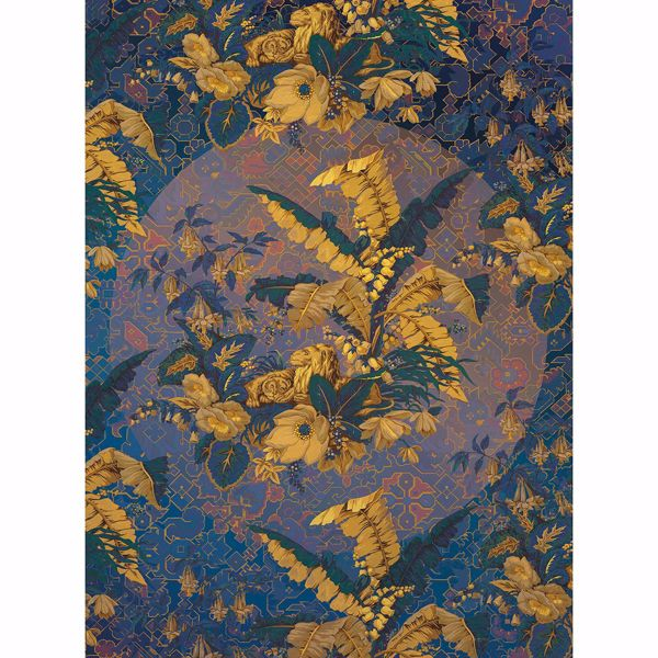 Picture of Antique Leaves Wall Mural