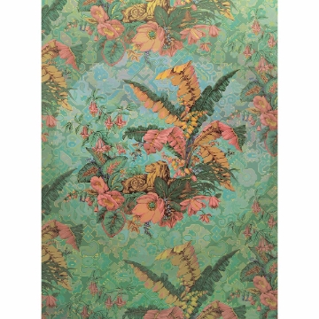 Picture of Antique Green Leaves Wall Mural