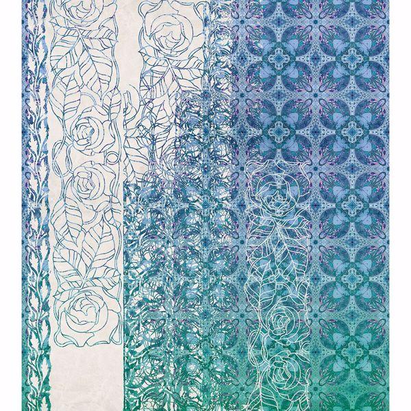 Picture of Art Nouveau Bleu Wall Mural