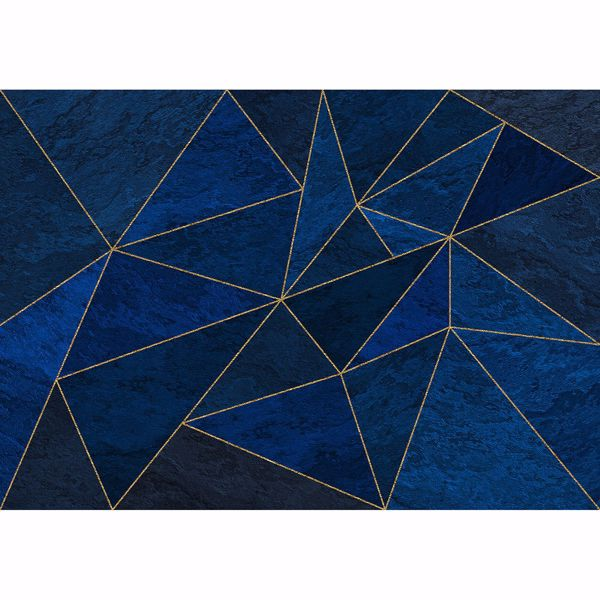 Picture of Rich Blue Geometric Wall Mural
