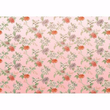Picture of Pink Faded Flowers Wall Mural