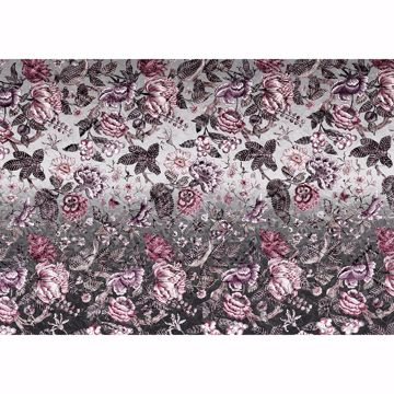 Picture of Silver Flowers Wall Mural
