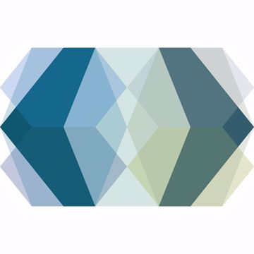Picture of Gem Stone Blue Wall Mural
