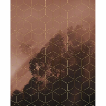 Picture of Golden Grid Wall Mural