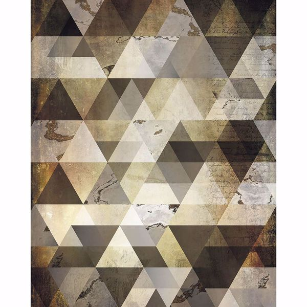 Picture of Bronze Triangles Wall Mural