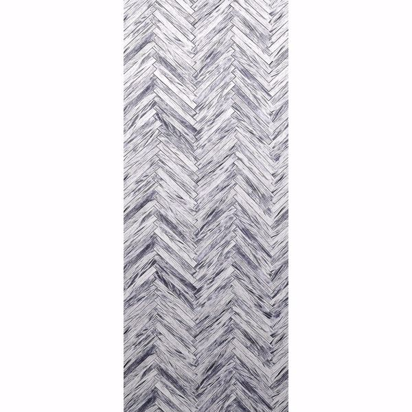 Picture of Herringbone Wood Grey Wall Mural