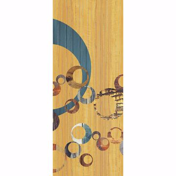 Picture of Orange Vintage Circles Wall Mural