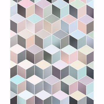 Picture of Pastel Cubes Wall Mural