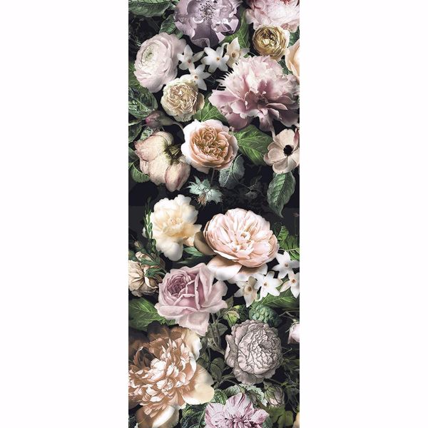 Picture of Victoria Black Floral Wall Mural
