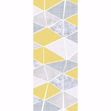 Picture of Yellow Triangle Array Wall Mural