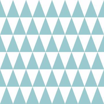 Picture of Verdon Aquamarine Geometric Wallpaper