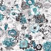 Picture of Penny Blue Floral Wallpaper