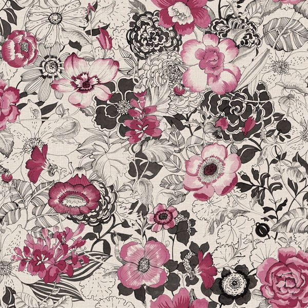 Picture of Penny Pink Floral Wallpaper