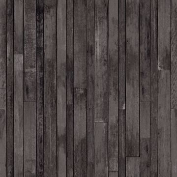 Picture of Azelma Charcoal Wood Wallpaper