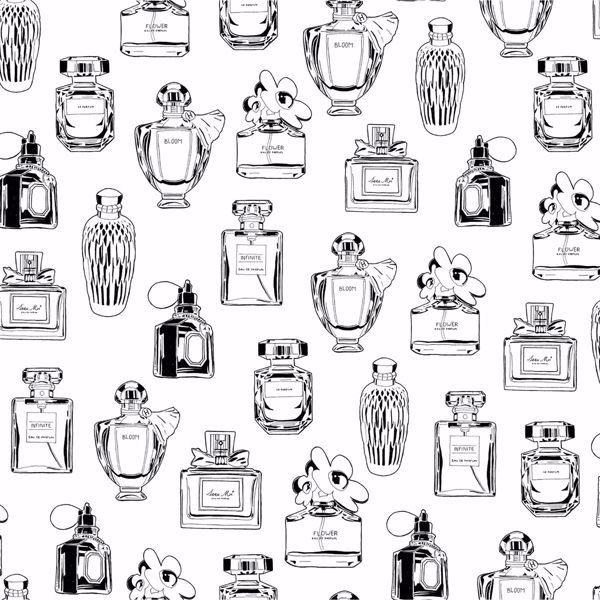 Picture of Chita White Perfume Bottles Wallpaper