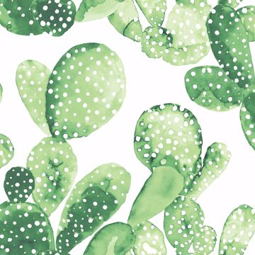 Picture of Mimi Green Cactus Wallpaper