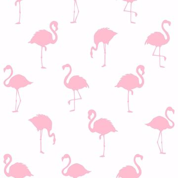 Picture of Lovett Pink Flamingo Wallpaper
