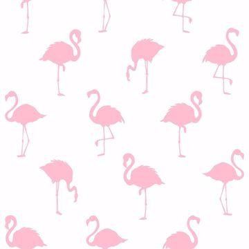 Picture of Lovett Pink Flamingo Wallpaper