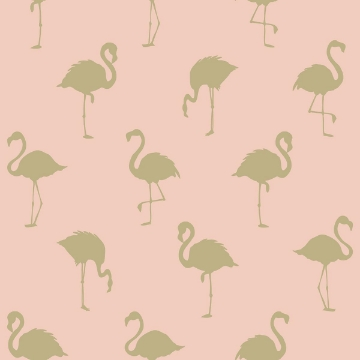 Picture of Lovett Peach Flamingo Wallpaper